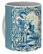A South-german Faience Stove Tile Second Half 18th Century, By Adam Asar, No 18a Coffee Mug