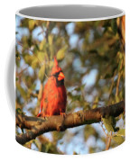 A Spot Of Red In The Trees Coffee Mug