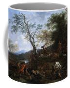 A Stag Hunt Nicolaes Claes Pietersz Berchem Coffee Mug