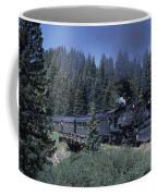 A Steam Engine Chugs Through A Mountain Coffee Mug