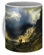 A Storm In The Rocky Mountains Mt. Rosalie, 1866 Coffee Mug