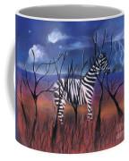 A Stormy Night For A Zebra  Coffee Mug