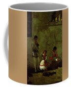 A Street Scene In Sevilla 1870 Coffee Mug