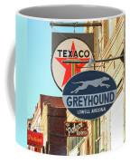 A Street Scene Of Vintage Signs, Lowell, Arizona Coffee Mug