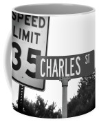 Ch - A Street Sign Named Charles Speed Limit 35 Coffee Mug