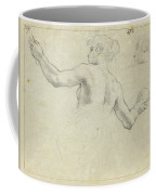 A Study For A Female Allegorical Figure And A Separate Study For Her Head Coffee Mug