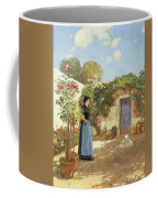 A Sunny Morning Coffee Mug by Childe Hassam