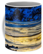 A Sunset In A River Of Ice Coffee Mug