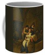 A Tavern Interior With Two Peasants Making Advances On A Maid With Figures Making Music Beyond Coffee Mug