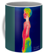 A Thermogram Of A Boy In Shorts Profile Coffee Mug