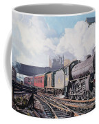 A 'thompson' B1 Class Moving Empty Stock On A Cold February Morning Coffee Mug by David Nolan