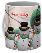 A Three Snowman Holiday Coffee Mug