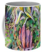 A Tropical Basket On A Post Coffee Mug