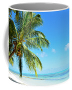 A Tropical Palm Tree Beach Coffee Mug