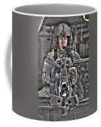 A Uh-60 Black Hawk Door Gunner Manning Coffee Mug by Terry Moore