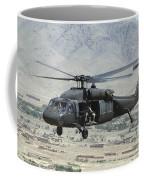A Uh-60 Blackhawk Helicopter Coffee Mug
