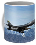 A U.s. Air Force B-1b Lancer Departs Coffee Mug by Stocktrek Images