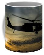 A U.s. Army Uh-60 Black Hawk Leaves Coffee Mug