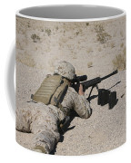 A U.s. Marine Zeros His M107 Sniper Coffee Mug by Stocktrek Images