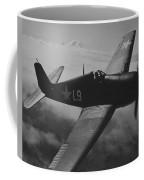 A Us Navy Hellcat Fighter Aircraft In Flight Coffee Mug