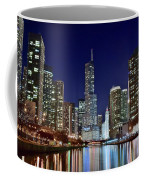 A View Down The Chicago River Coffee Mug