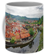 A View Of Cesky Krumlov And The Vltava River In The Czech Republic Coffee Mug