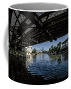 A View Of Chicago From Under The Division Street Bridge Coffee Mug