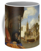 A View Of Delft With A Musical Instrument Seller's Stall Coffee Mug