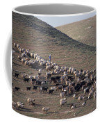 A View Of Sheep In The Judean Desert Coffee Mug