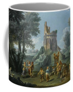 A View Of The Sedia Del Diavolo With Peasants  Coffee Mug