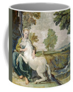A Virgin With A Unicorn Coffee Mug