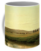 A Wagon Train On The Plains Coffee Mug