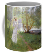 A Walk By The River Coffee Mug