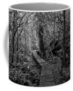 A Walk Through The Willowbrae Rainforest Black And White Coffee Mug