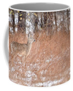 A White-tailed Deer In A Snow Storm Coffee Mug