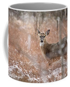 A White-tailed Deer In The Snow Coffee Mug