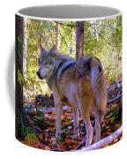 A Wolf Gazes Back Coffee Mug