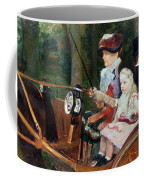 A Woman And Child In The Driving Seat Coffee Mug by Mary Stevenson Cassatt