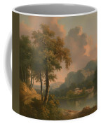 A Wooded Hilly Landscape Coffee Mug
