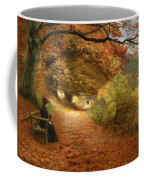 A Wooded Path In Autumn Coffee Mug