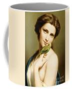 A Young Beauty With A Parakeet Coffee Mug