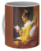 A Young Girl Reading Coffee Mug
