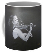 A Young Lady Playing A Violin Coffee Mug