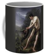 A Young Man Fighting A Goat Coffee Mug