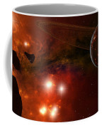 A Young Ringed Planet With Glowing Lava Coffee Mug