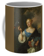 A Young Woman With A Parrot, Ary De Vois, 1660 - 1680 Coffee Mug