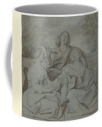 A Youth And Two Girls Singing , Jacob Jordaens Coffee Mug
