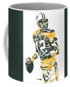 Aaron Rodgers Green Bay Packers Pixel Art 15 Coffee Mug