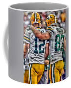 Aaron Rodgers Jordy Nelson Green Bay Packers Art Coffee Mug