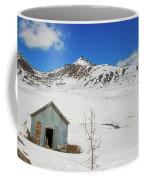 Abandon Building Alaskan Mountains Coffee Mug